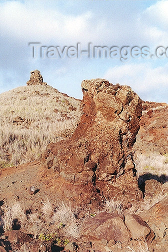 hawaii55: Hawaii - Lanai island: rock formations near the the Northern coast - photo by G.Frysinger - (c) Travel-Images.com - Stock Photography agency - Image Bank