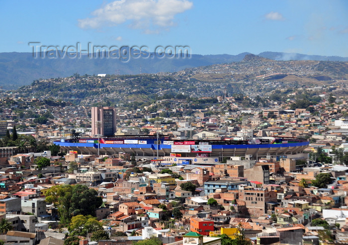 honduras20: Tegucigalpa, Honduras: the national stadium - Estadio National - Estadio Tiburcio Carías Andino - Barrio Morazán - architect Francisco Pratts - photo by M.Torres - (c) Travel-Images.com - Stock Photography agency - Image Bank