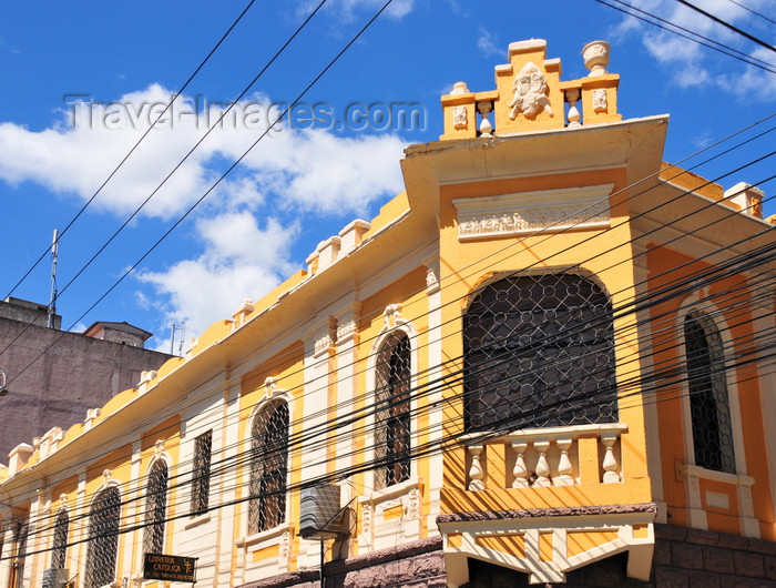 honduras21: Tegucigalpa, Honduras: cables and local architecture at the Catholic Bookshop - Libreria Catolica - Av. Miguel de Cervantes - casco viejo - photo by M.Torres - (c) Travel-Images.com - Stock Photography agency - Image Bank