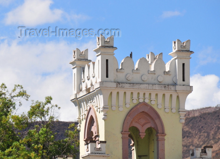 honduras49: Tegucigalpa, Honduras: tower at the former Presidential House, inspired in Castillo Sirmione in Brescia - Casa Presidencial - Museo Histórico de la República - Paseo Marco Aurelio Soto - photo by M.Torres - (c) Travel-Images.com - Stock Photography agency - Image Bank