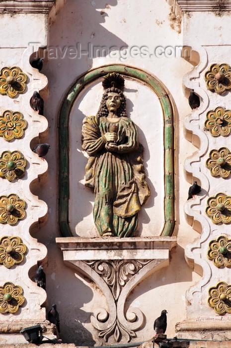 honduras68: Tegucigalpa, Honduras: façade decoration - iglesia de la Virgen de los Dolores - estilo barroco - photo by M.Torres - (c) Travel-Images.com - Stock Photography agency - Image Bank