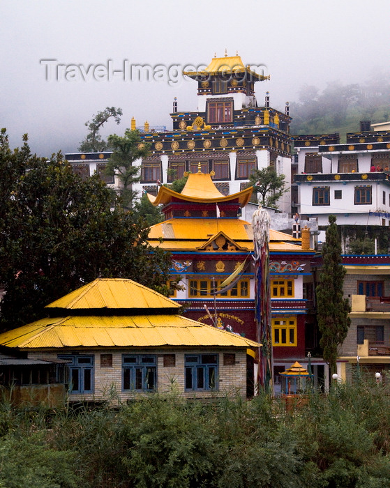 india182: Rewalsar, Mandi district, Himachal Pradesh, India: gompa - Buddhist monastery on the slope above Rewalsar lake - the place is significant because of its association with Guru Padmasambhava - photo by J.Hernández - (c) Travel-Images.com - Stock Photography agency - Image Bank