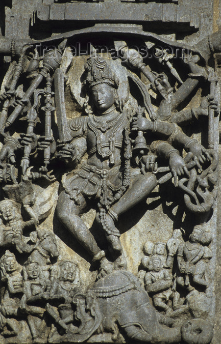 india20: India - Belur (Karnataka): dancing Shiva - Chennakeshava temple - photo by W.Allgöwer - (c) Travel-Images.com - Stock Photography agency - Image Bank