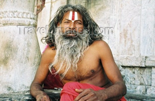 india207: India - Udaipur: holy man - sadhu / Sadu - photo by J.Kaman - (c) Travel-Images.com - Stock Photography agency - Image Bank
