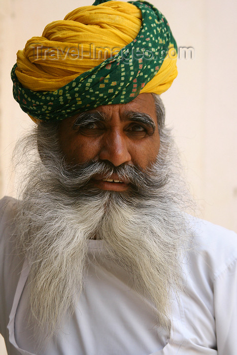 india210: Jodhpur, Rajasthan, India: bearded man in a turban - French fork beard - photo by M.Wright - (c) Travel-Images.com - Stock Photography agency - Image Bank