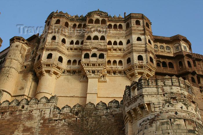 india220: Jodhpur, Rajasthan, India: Meherangah fort - a Rathore stronghold - photo by M.Wright - (c) Travel-Images.com - Stock Photography agency - Image Bank