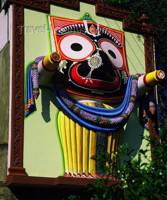 india23: India - Karnataka: a god's face - photo by E.Petitalot - (c) Travel-Images.com - Stock Photography agency - Image Bank