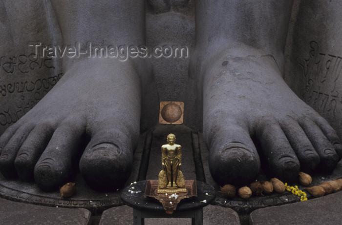 india273: India - Belur (Karnataka): Sravanabelagola: feet of giant statue of Jina Vardhamana Mahavira at a Jaina temple - religion - Jainism - photo by W.Allgöwer - (c) Travel-Images.com - Stock Photography agency - Image Bank