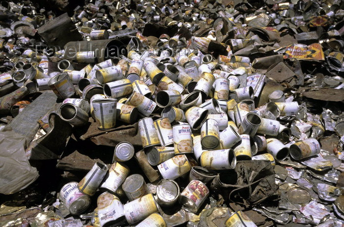 india316: India - Ladakh - Jammu and Kashmir: rubbish - pile of empty cans - photo by W.Allgöwer - (c) Travel-Images.com - Stock Photography agency - Image Bank
