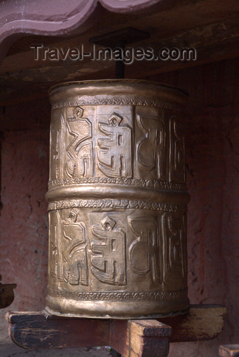 india338: India - Ladakh - Jammu and Kashmir: bronze prayer wheel - photos of Asia by Ade Summers - (c) Travel-Images.com - Stock Photography agency - Image Bank
