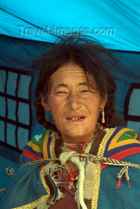 india347: India - Ladakh - Jammu and Kashmir: Ladakhi woman in her tent - photos of Asia by Ade Summers - (c) Travel-Images.com - Stock Photography agency - Image Bank