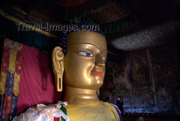 india351: India - Ladakh - Jammu and Kashmir: Shey - three-storey high golden Buddha at Shey Palace - photos of Asia by Ade Summers - (c) Travel-Images.com - Stock Photography agency - Image Bank