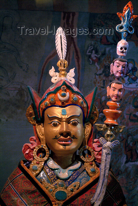 india353: India - Ladakh - Jammu and Kashmir: Tibetan deity - photos of Asia by Ade Summers - (c) Travel-Images.com - Stock Photography agency - Image Bank
