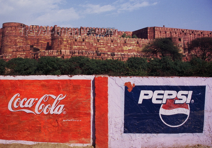 india382: India - Agra, Uttar Pradesh: sodas advertise in front of the Red Fort - photo by E.Petitalot - (c) Travel-Images.com - Stock Photography agency - Image Bank