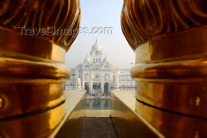 india422: Amritsar, Punjab, India: the Golden temple - view towards the Central Sikh Museum - photo by J.Cave - (c) Travel-Images.com - Stock Photography agency - Image Bank