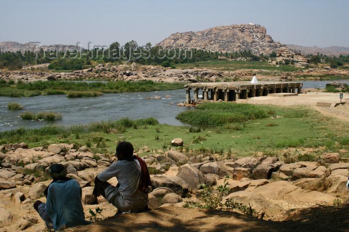 india436: Hampi, Karnataka, India: banks of the Tungabhadra River - photo by M.Wright - (c) Travel-Images.com - Stock Photography agency - Image Bank