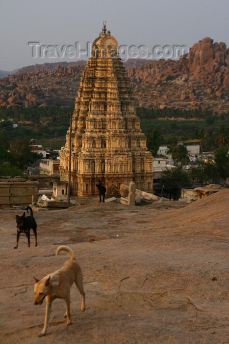 india438: Hampi, Karnataka, India: Virupaksha Temple - Group of Monuments at Hampi - UNESCO World Heritage Site - photo by M.Wright - (c) Travel-Images.com - Stock Photography agency - Image Bank