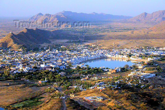india455: Pushkar, Rajasthan, India: the city seen from the Savitri Temple path - photo by M.Wright - (c) Travel-Images.com - Stock Photography agency - Image Bank