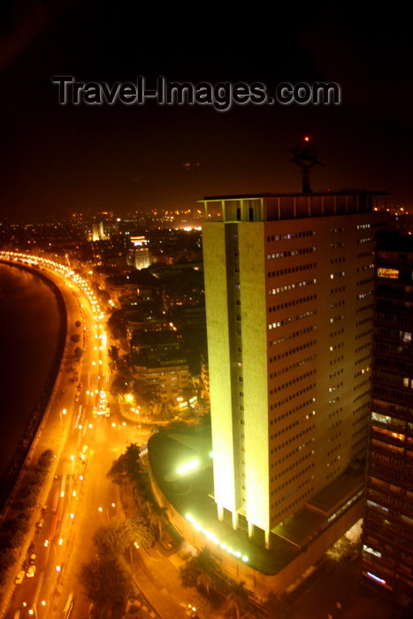 india466: Mumbai / Bombay, Maharashtra, India: Air India building and Marine Drive seen from the Hilton towers - NSC Bose Road - downtown Mumbai - photo by J.Cave - (c) Travel-Images.com - Stock Photography agency - Image Bank