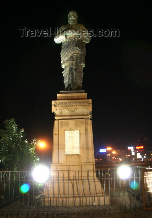 india467: Mumbai / Bombay, Maharashtra, India: statue of Shri Vithalbhai J.Patel - 'my place is with my people' - photo by J.Cave - (c) Travel-Images.com - Stock Photography agency - Image Bank