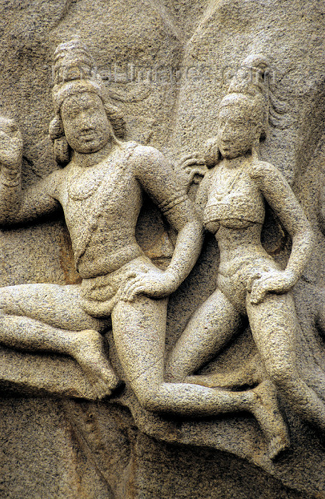 india77: India - Mahabalipuram / Mamallapuram (Tamil Nadu): temple art Unesco world heritage site - religion - Hinduism - photo by W.Allgöwer - (c) Travel-Images.com - Stock Photography agency - Image Bank