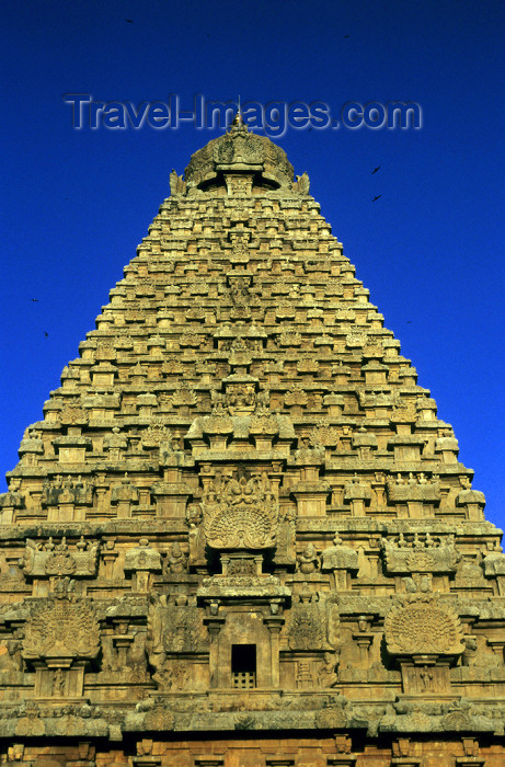 india78: India - Tanjore / Thanjavur (Tamil Nadu): Gopuram at Brihadeeswarar temple - part of the UNESCO World Heritage Site Great Living Chola Temples - religion - Hinduism  - photo by W.Allgöwer - (c) Travel-Images.com - Stock Photography agency - Image Bank