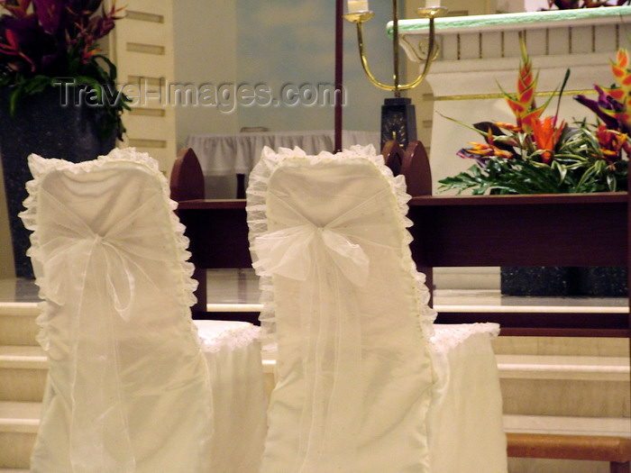 indonesia119: Kuta beach, Bali, Indonesia: Santo Fransiskus Xaverius Church - ready for a wedding - photo by D.Jackson - (c) Travel-Images.com - Stock Photography agency - Image Bank