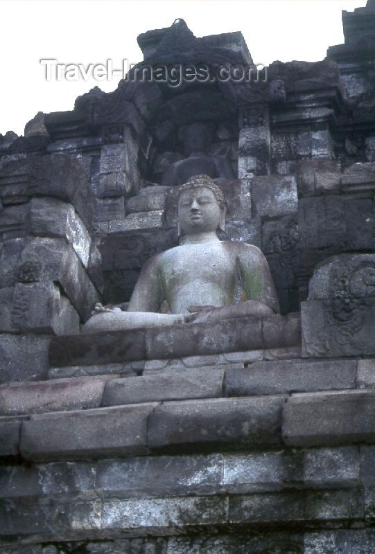 indonesia17: Java - Borobudur: Buddha - photo by M.Sturges - (c) Travel-Images.com - Stock Photography agency - Image Bank