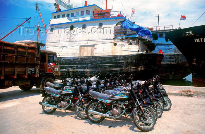 indonesia27: Sunda Kelapa, South Jakarta, Indonesia - motorbikes - old port of Sunda Kelapa - photo by B.Henry - (c) Travel-Images.com - Stock Photography agency - Image Bank
