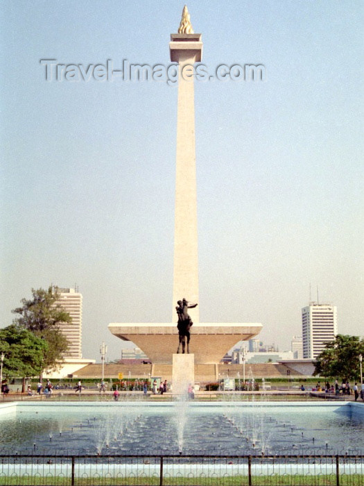 indonesia29: Indonesia - Java - Jakarta: the National Monument  - Monas - built during the Sukarno era - the base houses a historical museum and a meditation hall - Merdeka square - photo by M.Bergsma - (c) Travel-Images.com - Stock Photography agency - Image Bank