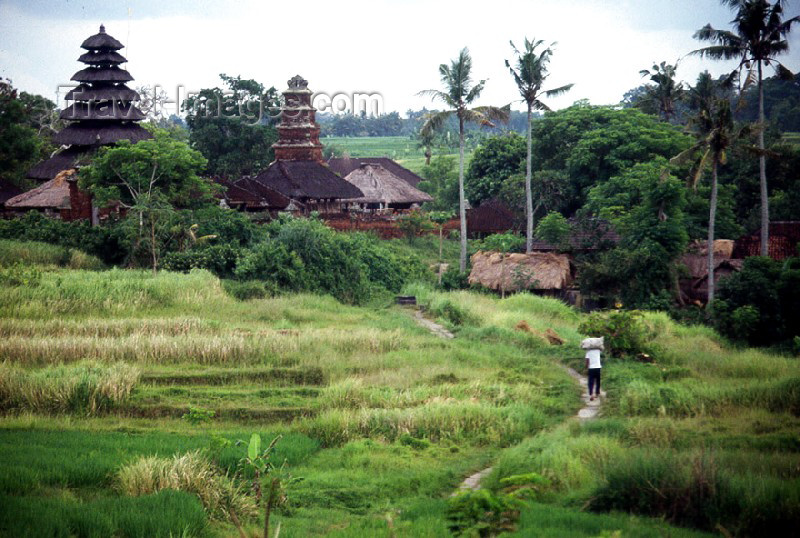 indonesia3: Indonesia - Bali: countryside - wooden temples and village path - photo by Mona Sturges - (c) Travel-Images.com - Stock Photography agency - Image Bank
