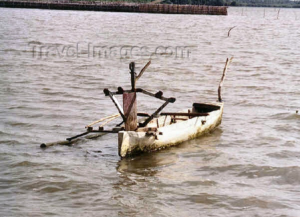 indonesia38: Indonesia - Java - Surabaya: outrigger boat - mouth of the Mas River - photo by G.Frysinger - (c) Travel-Images.com - Stock Photography agency - Image Bank