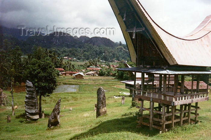 indonesia63: Indonesia - Pulau Sulawesi / Celebes island: traditional residence - photo by G.Frysinger - (c) Travel-Images.com - Stock Photography agency - Image Bank