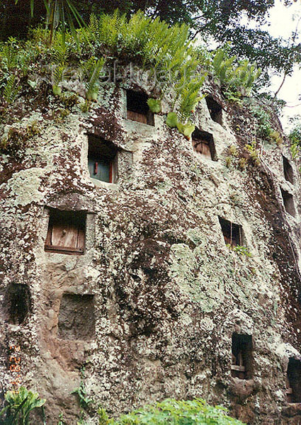 indonesia66: Sulawesi / Celebes island: Toraja tombs cut into the rock - photo by G.Frysinger - (c) Travel-Images.com - Stock Photography agency - Image Bank