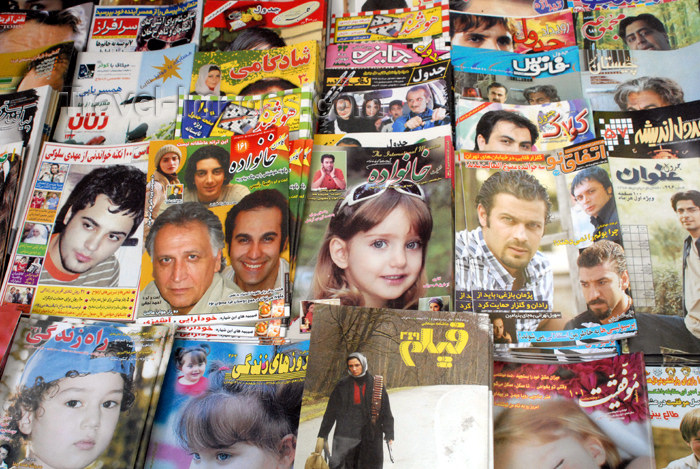 iran114: Iran - Tehran - press - Iranian magazines - photo by M.Torres - (c) Travel-Images.com - Stock Photography agency - Image Bank