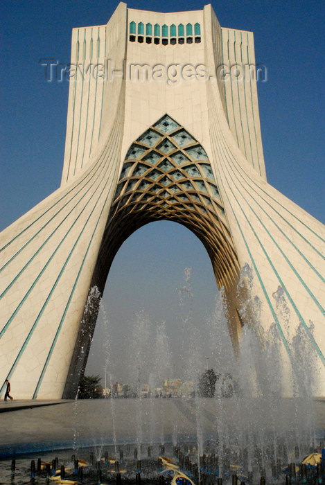 iran119: Iran - Tehran - Shahyaad Monument - Azadi square - fountain - photo by M.Torres - (c) Travel-Images.com - Stock Photography agency - Image Bank