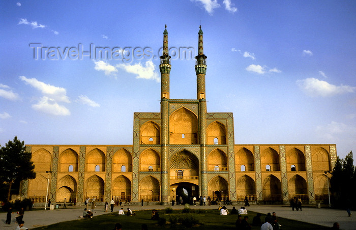 iran135: Yazd, Iran: vaulted mosque-like façade of the Takyeh Amir Chakhmagh complex - photo by W.Allgower - (c) Travel-Images.com - Stock Photography agency - Image Bank