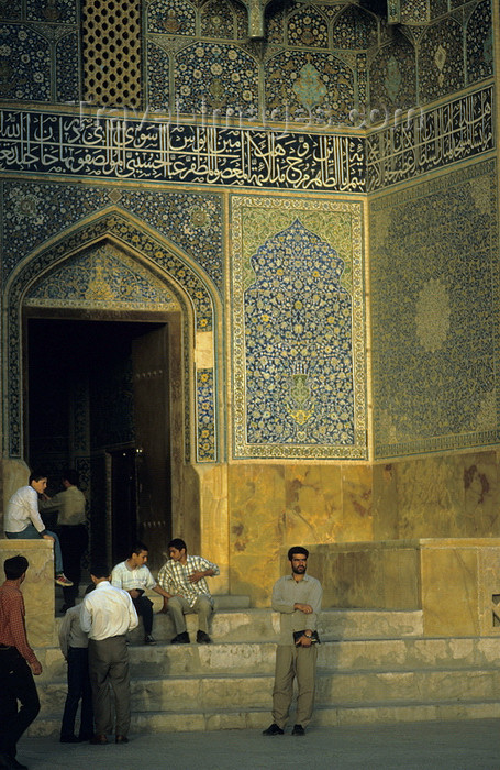 iran151: Iran - Isfahan: entrance to the Sheikh Lotf Allah Mosque - built by Shah Abbas I - eastern side of Naghsh-i Jahan Square - photo by W.Allgower - (c) Travel-Images.com - Stock Photography agency - Image Bank