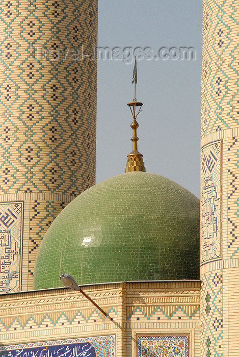 iran161: Iran - Shiraz: green dome of a modern Mosque - photo by M.Torres - (c) Travel-Images.com - Stock Photography agency - Image Bank