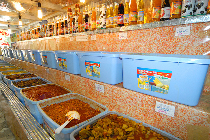 iran164: Iran - Shiraz: pickles shop - photo by M.Torres - (c) Travel-Images.com - Stock Photography agency - Image Bank