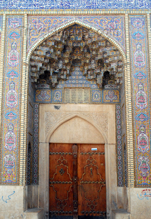 iran172: Iran - Shiraz: gate on LotfAli Khan-e Zand Street - photo by M.Torres - (c) Travel-Images.com - Stock Photography agency - Image Bank