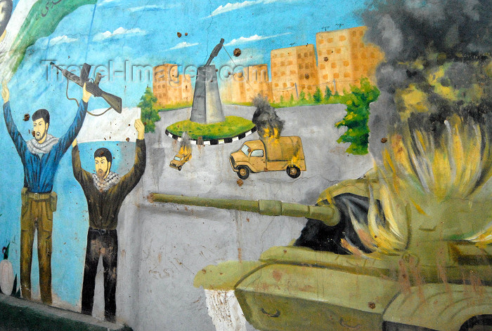 iran175: Iran - Shiraz: mural - the fall of Saddam Hussein - photo by M.Torres - (c) Travel-Images.com - Stock Photography agency - Image Bank