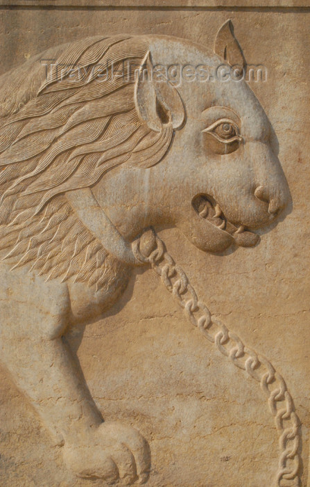 iran198: Iran - Shiraz: chained lion - bas-relief -Qavam House - Narenjestan e Qavam - photo by M.Torres - (c) Travel-Images.com - Stock Photography agency - Image Bank