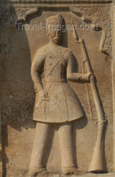iran206: Iran - Shiraz: Qajar soldier - bas-relief - Qavam House - Narenjestan e Qavam - photo by M.Torres - (c) Travel-Images.com - Stock Photography agency - Image Bank