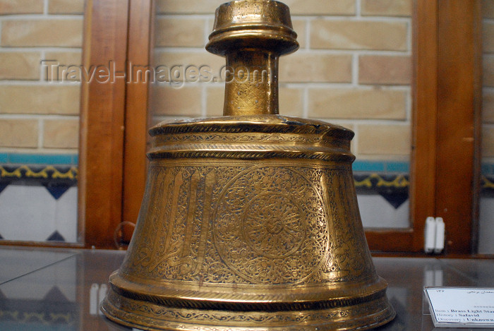 iran209: Iran - Shiraz: Safavid brass light stand - Qavam House - Narenjestan e Qavam - photo by M.Torres - (c) Travel-Images.com - Stock Photography agency - Image Bank