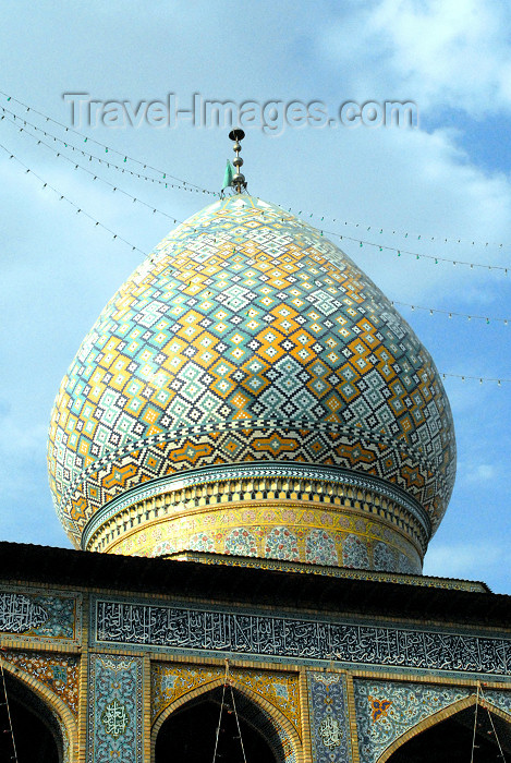 iran234: Iran - Shiraz: dome - mausoleum of Sayyed Aladdin Hossein - photo by M.Torres - (c) Travel-Images.com - Stock Photography agency - Image Bank