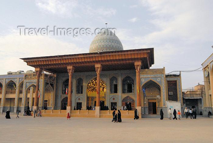 iran244: Iran - Shiraz: Shah-e-Cheragh mausoleum - facade - photo by M.Torres - (c) Travel-Images.com - Stock Photography agency - Image Bank