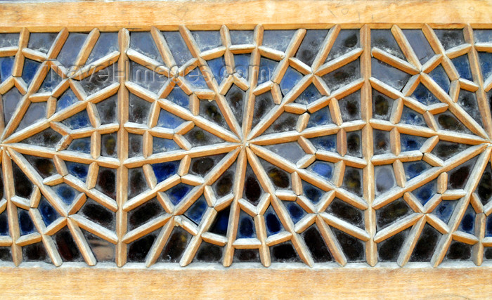 iran252: Iran - Shiraz: Karim Khan Zand citadel - external side of a window with Persian stained glass - photo by M.Torres - (c) Travel-Images.com - Stock Photography agency - Image Bank