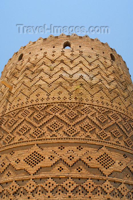 iran261: Iran - Shiraz: beatiful geometrical motives made with bricks - Karim Khan Zand citadel - photo by M.Torres - (c) Travel-Images.com - Stock Photography agency - Image Bank
