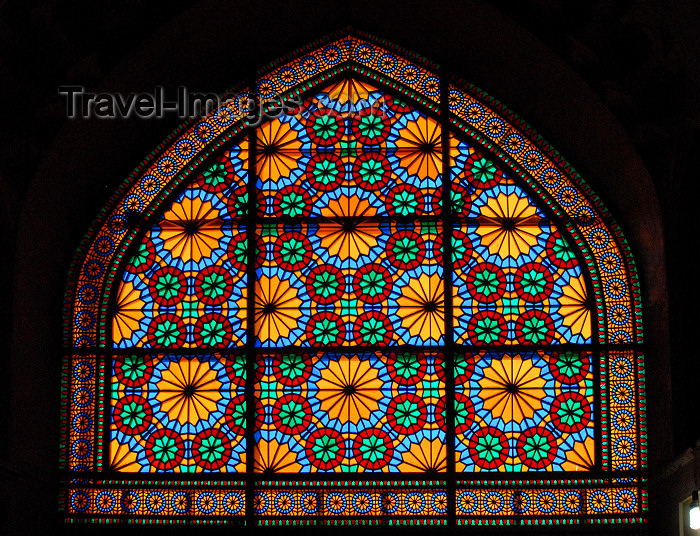 iran263: Iran - Shiraz: stained glass window in the regent's palace - Karim Khan Zand citadel - photo by M.Torres - (c) Travel-Images.com - Stock Photography agency - Image Bank